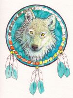 The Indian Wolf by Alina-Kurbiel