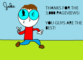 3,000 Pageviews! by jakelsm