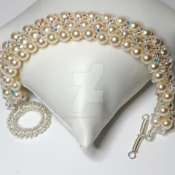 Pretty brides bracelet by crystalstargems