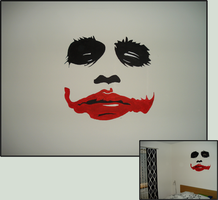 The Joker Wallpainting by coroners