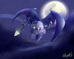 Meta Knight by lyssacat