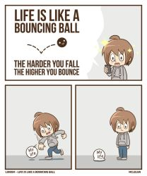Life is like a bouncing ball by mclelun