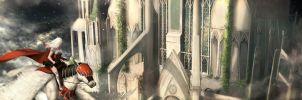High Above the Cathedral by Fierying