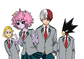 Some My Hero Academia students by bushido10