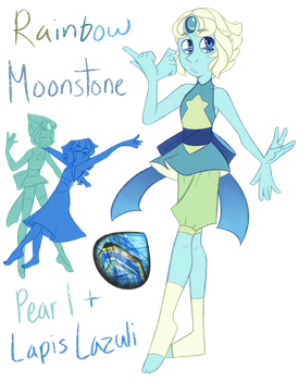 FT - (Lapis/Pearl) Rainbow Moonstone by TheZodiacLord