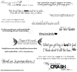 Random Lyrics Brushes by saharapriincesz