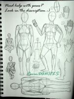 Poses Practice (look in the discription) by RavenDANIELS