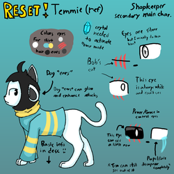RESET!Temmie ref (Last post of 2017!) by UnderTale-The-Human