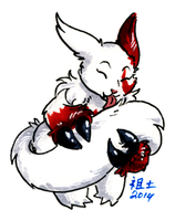 zangoose cleans her tail by not-fun