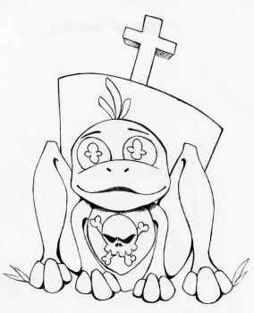 Color Me: Spoopy Frog by hellbunny
