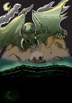 Cthulhu Monster Attack by VictorHoreau