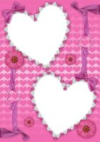 Pretty Pink Hearts PSD Frame by Anavrin2010