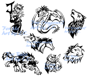 Style practice--Tattoo design by J-C