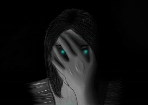 Person with hand in front of her face. by Daniquee502