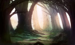 Forest speedpaint by Tryingtofly