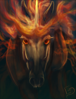 #Equinemarch 22: Rapidash by Dalgeor