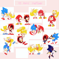 10 Sonic Sketches - Complete Series + Speedpaint by Lallelol