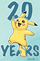 Pokemon 20th Anniversary Pikachu by EnigmaBerry