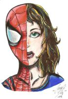 Spider Girl close up by BlackMetallicMuffin