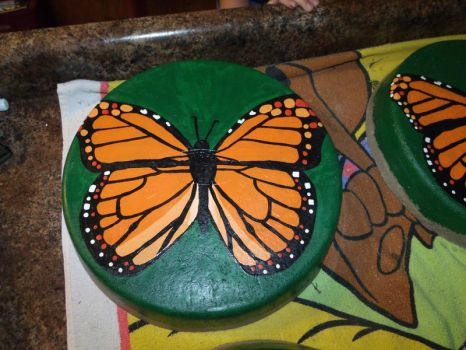 Monarch Butterfly Stepping Stone 2 by EllaRow