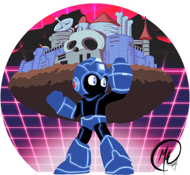 Synthwave Megaman (with song) by Meeche-Max