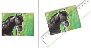 ACEO - Friesian by Paintwick