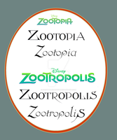 Zootopia Classic letter style by FairytalesArtist