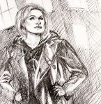 The 13th Doctor Ballpoint Pen Sketch by DrewEdwardJohnson