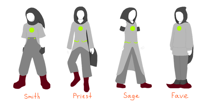 Homestuck: male counterparts for female classes by annethyl