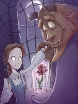 Beauty and the Beast. Burton-style by LordSiverius