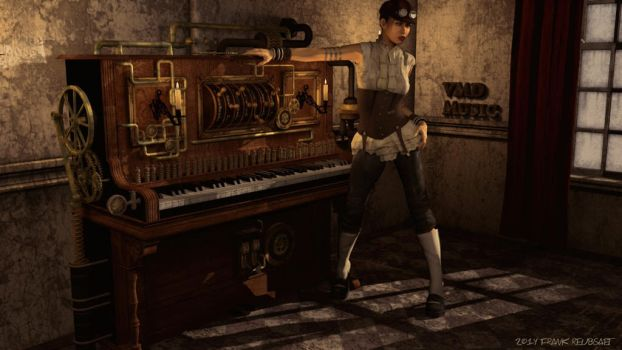 Steampunk-Piano by freuby