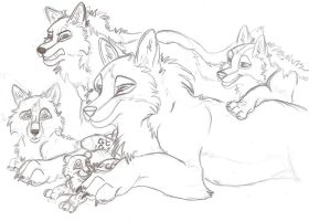 Family Portrait by wolfworld