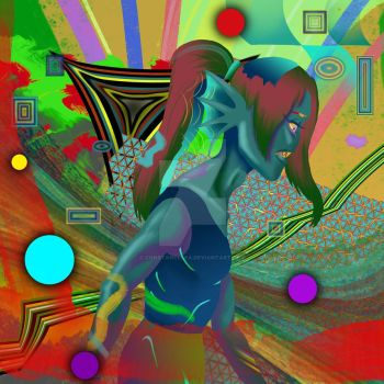 Undyne - abstract work #2 by constancelea