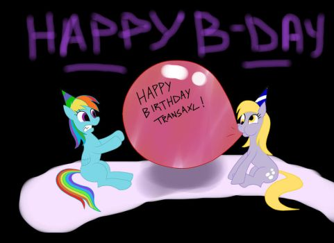 Derpy Blowing A Balloon by BeatnikZombeez