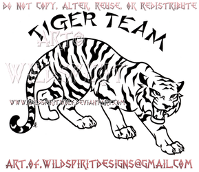 Fierce Tiger Team Design by WildSpiritWolf