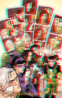 Young Avengers in 3D Anaglyph by xmancyclops