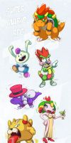 Super Mario RPG Chibi Sketch Set by ZeroMayhem