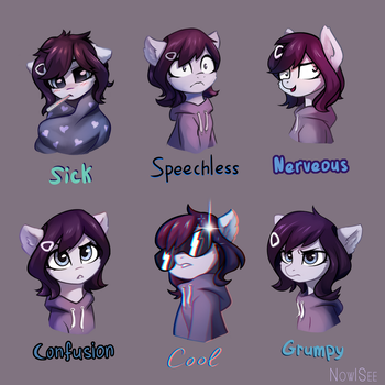 Rainfall's 3rd expressions pack by INowISeeI