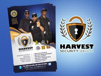 Harvest security logo and flyer by owdesigns