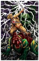 He-Man and Battle Cat by pycca