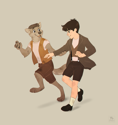 Peter and James off to adventure (by Ritwells) by Domus-Vocis