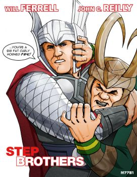 thor and loki: step brothers by m7781