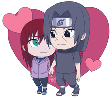 Chibi Commission | Itachi x Ana by Jeca96