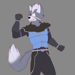 Wolf O'donnell color [Fanart] by Vulpartic