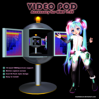 MMD Video Pod Accessory by Trackdancer
