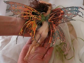 sculpted doll back, faery J by polymer-people