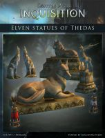 DAI Props - Elven Statues of Thedas for XPS (DL) by raccooncitizen
