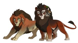 Smol lions by forstyy
