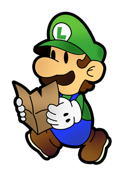 Paper Luigi- The Thousand Year Door by Fawfulthegreat64