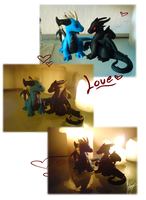 Dragon love sculptures by Shadow-Kento